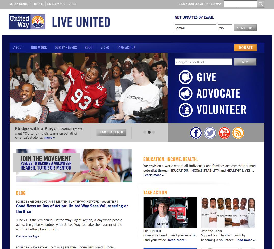 UnitedWay.org website