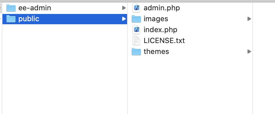 Directory instructional image - Install ExpressionEngine