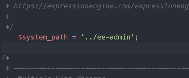 New code setting