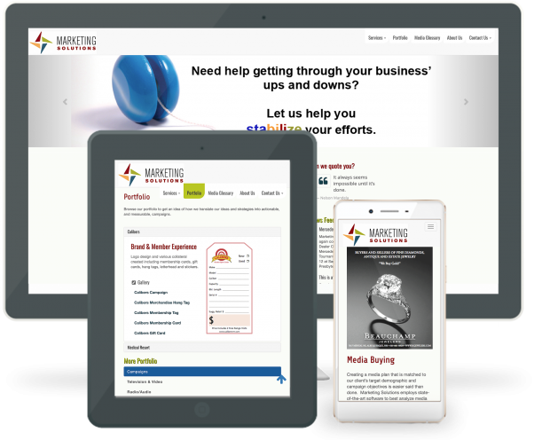 Responsive Website Reboot - Marketing Solutions on Multiple devices