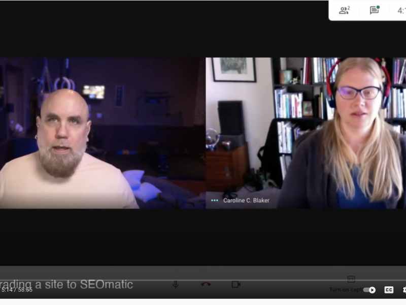 Livestream video: Caroline speaks with Andrew Welch on SEOmatic for Craft CMS Image