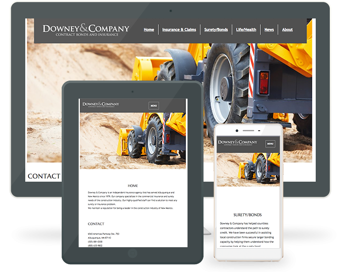 Responsive Web Design - Downey & Co on Multiple devices 0