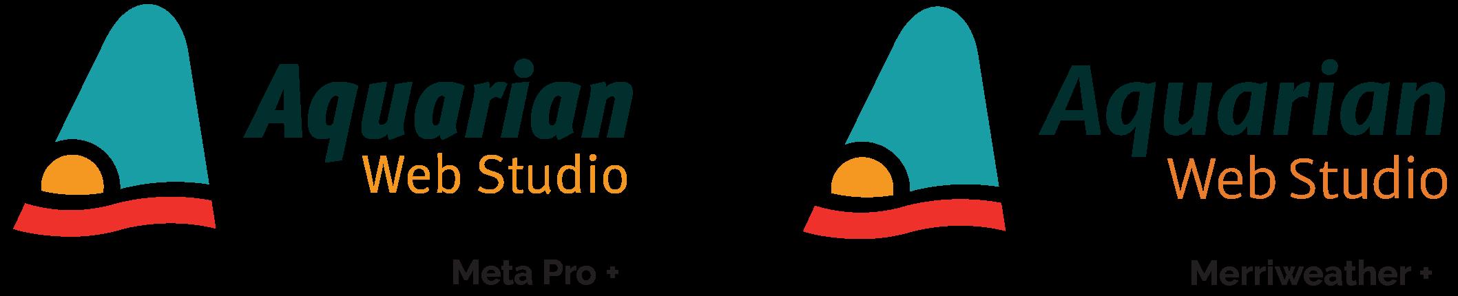 Logo versions in Meta Pro & Merriweather fonts
