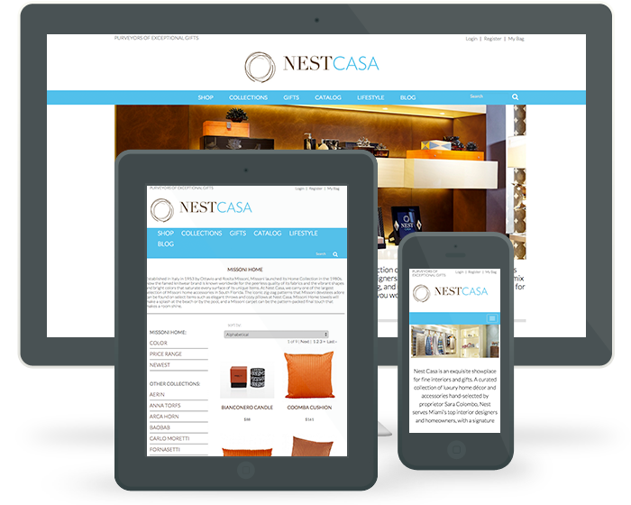 NESTCasa.com e-Commerce Experience on Multiple devices 0