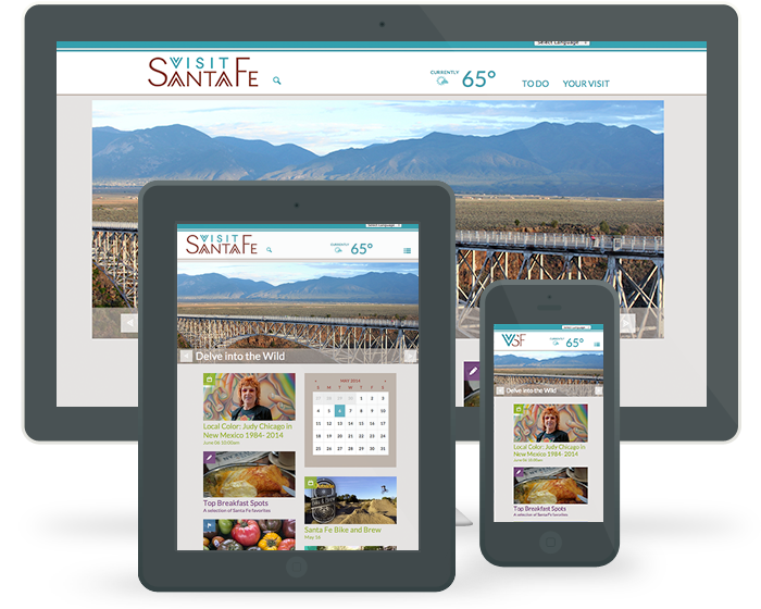 VisitSantaFe.com - Web Development on Multiple devices 0